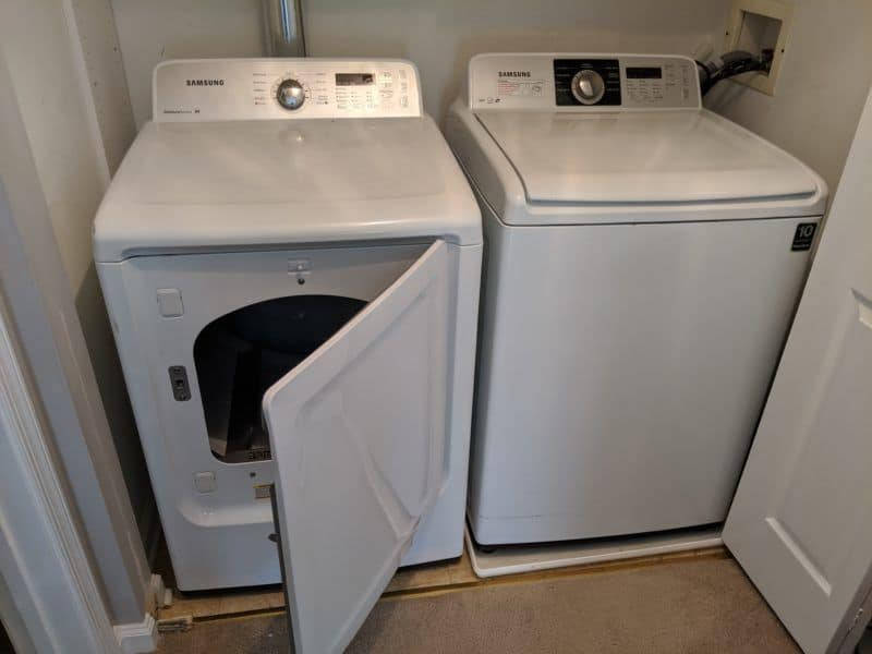 Picture of dryer door in New Market, MD that opens in the wrong direction.